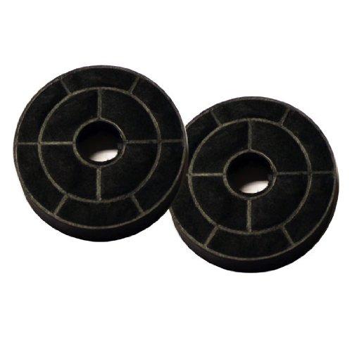 Silverline AF 100, filtro de carbón activo (1 par), accesorio para campana...