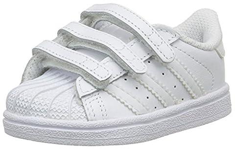 adidas Superstar Foundation Cf, Unisex Baby Lauflernschuhe für Babys , Weiß - Weiß - Blanc (Ftwr White/Ftwr White/Ftwr White) - Größe: