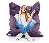 Roomox Original Sitzsack-120x160cm-für drinnen & draußen XXL Sitzsack, Stoff, Dark...
