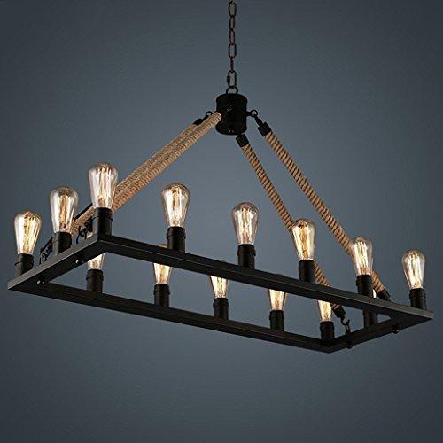 Dsaddsd &illuminazione a soffitto lampada a sospensione a sospensione a sospensione a sospensione in metallo con paralume in metallo per salotto con tavolo da pranzo da ufficio a 14 luci