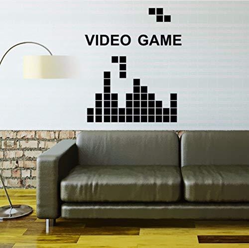 Wuyyii 68X80 Cm Tetris Spiel Video Spiel Vinyl Wandtattoo Wohnkultur Kinderzimmer Schlafzimmer Diy Kunst Wandbild Tapete Abnehmbare Wandaufkleber