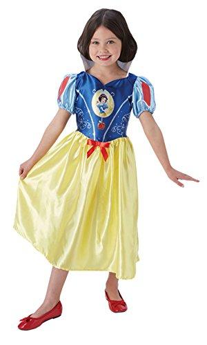 Fancy Ole - Mädchen Girl Kostüm Karneval Prinzessin Fairytale Schneewittchen Snow White, Mehrfarbig, Größe 110-116, 5-6 Jahre (Snow White Prinz Kostüm)
