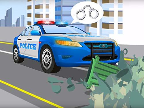 Das Polizeiauto und das rote Rennauto (Instant Autos Video In)