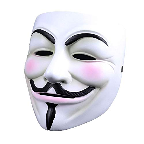 LYEXO Halloween Maske Horror V Wort Vendetta Maske Full Face Maskerade Horror Erwachsene Geistertanz 5 Stücke @ - Beängstigend Purge Kostüm