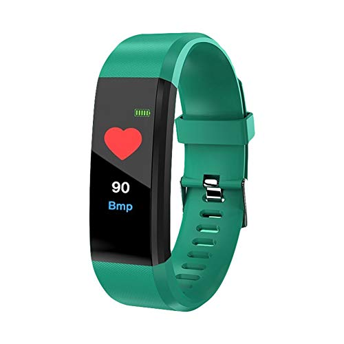 Sguan-wu Fitness Armband, Fitness Tracker mit Pulsmesser,Farbbildschirm Aktivitätstracker Fitness Uhr wasserdichte Armband Sport Smart Armband Schrittzaehler Smart Watch Green