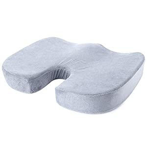 LILYYONG Home Memory Foam Coccyx Orthopedic Cushion Office Chair Seat Back Support Pillow housewife dunelm zipped oxford ikea tesco how to make