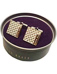 TED BAKER Cufflinks In Tin Carbon Fibre Didcot Square