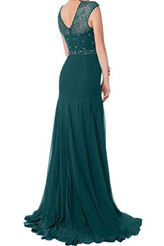 TOSKANA BRAUT Elegant Grape Neu 2017 Chiffon Meerjungfrau Perlen Paillette Brautmutterkleid Partykleider Promkleid Lang Navy