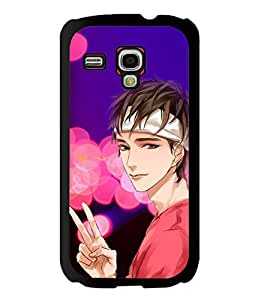 Fuson 2D Printed Boy Designer back case cover for Samsung Galaxy S3 Mini - D4558