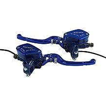 Un par de motocicletas Palanca universal Manija ajustable Embrague hidráulico Bomba de freno Cilindro maestro Cyclist