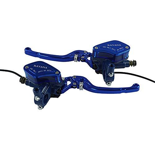 Sedeta Pompe de frein hydraulique de cylindre de ma/ître-cylindre dembrayage de moto M10x1.25mm en aluminium