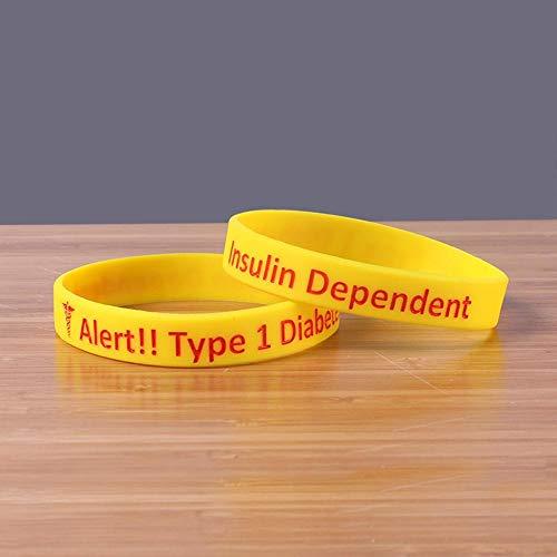 DuDuDu SilikonarmbäNder Kinder Diabetes 1 Silikon-Armband in weichen Band (5 Paare)