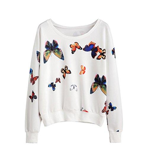 tonsee-femmes-papillon-imprime-a-manches-longues-pullovers-blouse-sweatshirt-l-blanc