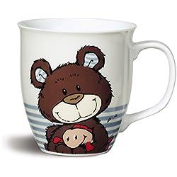 Nici 38168 taza de porcelana, diámetro de 9,5 x 10 cm, el oso pardo