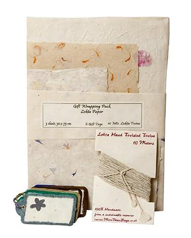 Gift Wrap Pack/Crafting - Petals - Lokta paper - Handmade throughout