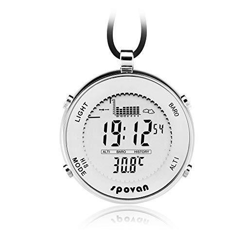 ZMCY Taschenuhr, Spovan SPV600 Outdoor wasserdichte Unisex Taschenuhr Digital Track Angeln Barometer Höhenmesser Thermometer Multifunktionsuhr