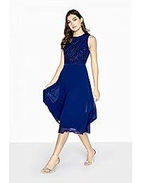 Little Mistress - Vestido con Ornamentación y Largo a Media Pierna Modelo Zara para Mujer