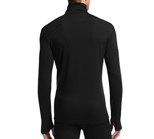 Icebreaker Herren Funktionsshirt Tech Top Long Sleeve Half Zip Black