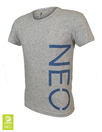 adidas Neo Mens T Shirt Tee Grey MARL Neo Label Mens Boys Size S/2XL New