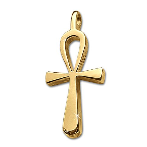 clever-schmuck-pendentif-dore-petite-croix-egyptienne-en-argent-925-plaque-or