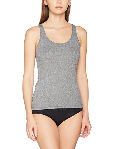 Marc O'Polo Body & Beach Damen TOP Unterhemd, Grau-Mel. 202, 38 (Herstellergröße: M)