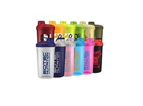 Scitec Nutrition - Shaker 12 Farben MIX Box ,700ml mit Sieb (1 Shaker) Die Shaker-box