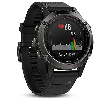 Garmin fēnix 5 GPS-Multisport-Smartwatch, Herren, Herzfrequenzmessung am Handgelenk, Sport- und Navigationsfunktionen, grau/schwarz (B01N7J9APR) | Amazon Products