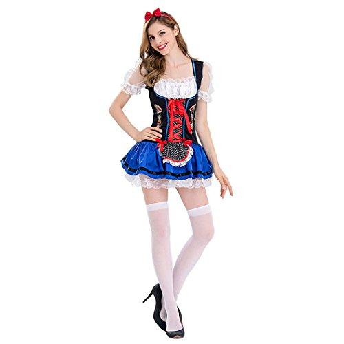 Damen Sexy Oktoberfest Bierfest in München Halloween Kostüm (Film Bierfest Kostüme)