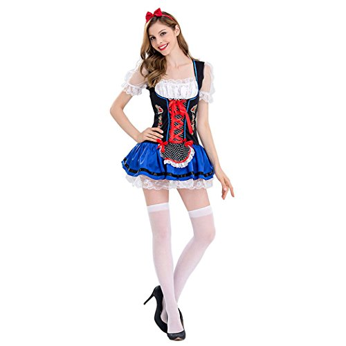 Sexy Wench Kostüme Serving (Damen Sexy Oktoberfest Bierfest in München Halloween Kostüm)