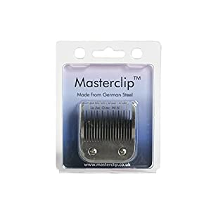 Masterclip Dog Clipper Blade German Steel A5 Clipper Blades 50F 40F 30F 15F 10F 9F 7F 7 5F 5 4F 4 3F 3 2F 2 5/8N Toe Blade compatible, Oster & Andis 10