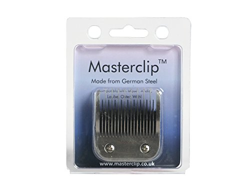 Masterclip Dog Clipper Blade German Steel A5 Clipper Blades 50F 40F 30F 15F 10F 9F 7F 7 5F 5 4F 4 3F 3 2F 2 5/8N Toe Blade compatible, Oster & Andis 1
