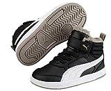 Puma Unisex-Kinder Rebound Street V2 FUR V PS Hohe Sneaker, Schwarz Black White-Elephant Skin 04, 29 EU