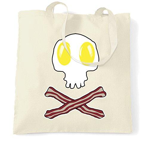 & Cross Bones-Geschenk-Idee Logo Frühstück Tragetasche (Billig Skelette Für Halloween)