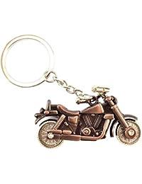 RJMSAS Royal Bullet Bike Keychains Keyrings - Bronze | Key Ring For Car Bike Home Keys | Key Chain For Kids Men...
