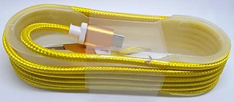 Micro USB Kabel Android Ladekabel Samsung bunt nylon Mikro Typ C für z. B. Galaxy S6 S5 S 4 Handy geflochten Handyladekabel Ladegerät