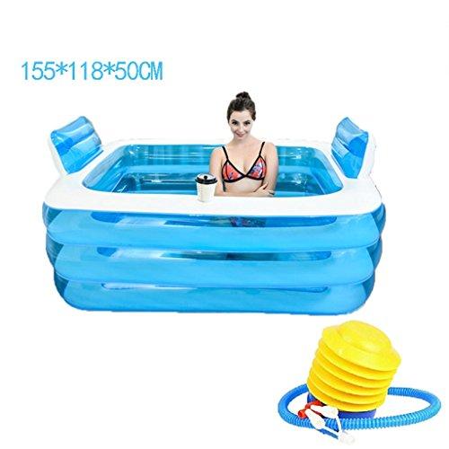 ASL Pliegue la bañera inflada plástica La bañera más gruesa del aislamiento...