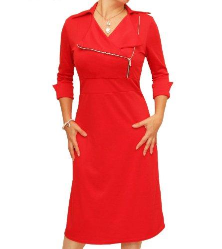 Blue Banana - Biker-Kleid Rot