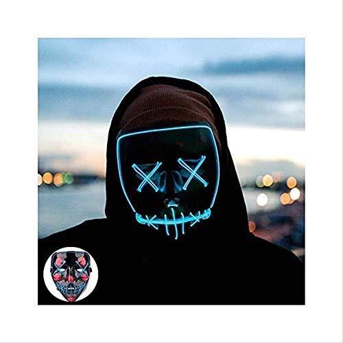 Wbdd Maske Halloween Maske Led Maske Leuchten Party Masken Neon Maska Cosplay Mascara Horror Mascarillas Glühen In Dunklen Masque V Für Vendetta Ice Bule