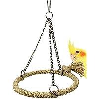 Godea Parrot Juguetes para Colgar pájaros, pájaros, pájaros, Juguete para Masticar, pirámide, Anillo, balancín, Juguete Natural para pájaros, jaulas para jaulas