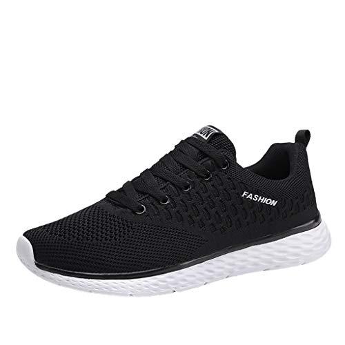 REALIKE Herren Sportschuh Sneaker Trendige Unifarben Mesh rutschfest Laufschuhe Freizeitschuhe Atmungsaktiv Leicht Sportlich Geeignet für Jugend drinnen und draußen Bergsteigen Lauftraining