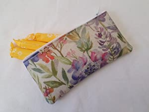 Handmade Oilcloth Tampon Case Holder - Voyage Hydrangea Fabric
