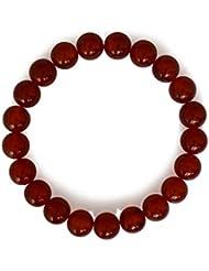 Achat Armband, natürlich, rot, rund, 8mm, dehnbar