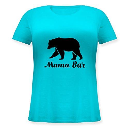 Shirtracer Muttertag - Mama Bär - Lockeres Damen-Shirt in Großen Größen mit Rundhalsausschnitt Türkis