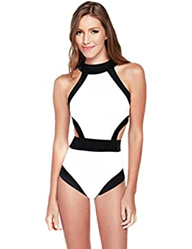 Genießen Bikini Badeanzug Strandkleid Tankini Bikinis Bademode Damen Sommer Bikini Moderne Mädchen (M, Weiß)