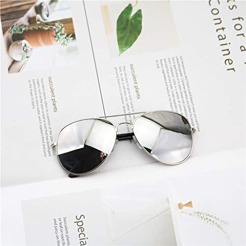 Happy Together Gezeiten Kinder Studenten Sonnenbrillen Jungen und Mädchen Farbe reflektierende Sonnenbrillen Frosch Spiegel niedlichen Baby Kind Sonnenbrille (Farbe : F)
