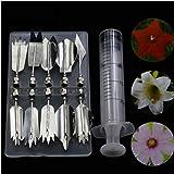 PiniceCore 11pcs / Set 3D Jelly Flower Attrezzi di Arte della Torta della Gelatina Pudding ugello della siringa impostati Torta Che Decora Gli Attrezzi