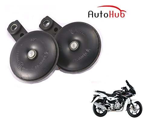 Auto Hub Uno Minda Bike Horn Set For Bajaj Pulsar 220 DTS-i - Set of Two (Black)  available at amazon for Rs.499