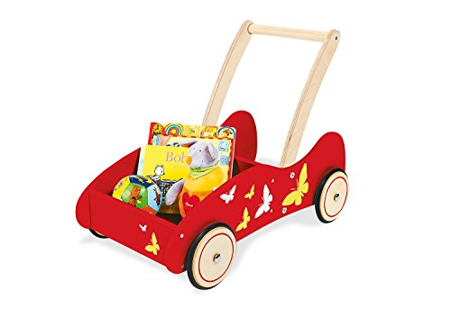 Pinolino 269412 Lauflernwagen \'Kimi\' mit Schmetterlingen, rot