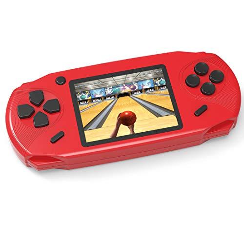 Bornkid 16 Bit Handheld Spielekonsole für Kinder und Erwachsene mit Integriertem 100 HD Videospiel 3,0 Zoll Seniors Electronic Handheld Spiele Jungen Mädchen Geburtstags Geschenk (Rot)