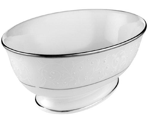 Lenox Opal Innocence Platinum-Banded Bone China Open Vegetable Bowl by Lenox Lenox China Open Vegetable Bowl